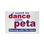 I Want to Dance with Peta Rectangle Magnet (100 pa
