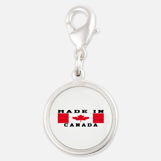 Canada Made In Silver Round Charm