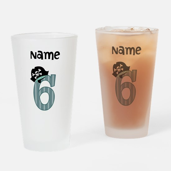 Pirate Sixth Birthday Drinking Glass