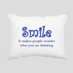 Reason to Smile Rectangular Canvas Pillow