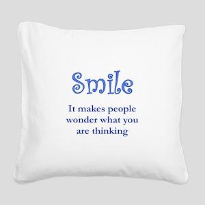 Reason to Smile Square Canvas Pillow
