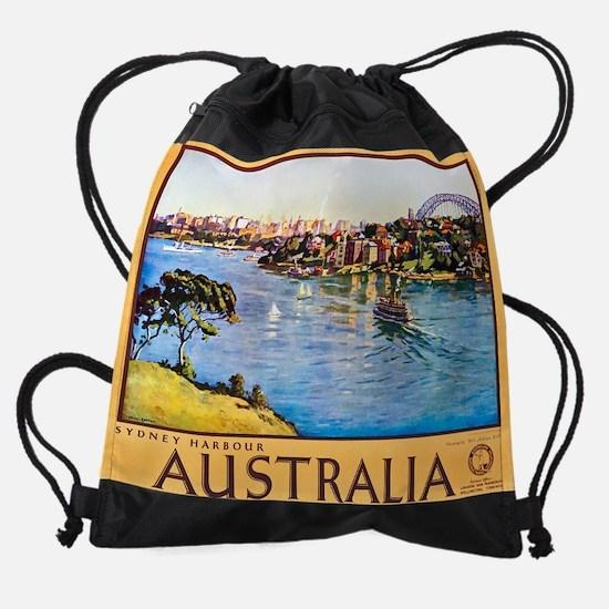 Australia10.png Drawstring Bag