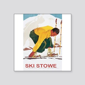 Ski Stowe Vermont Rectangle Sticker