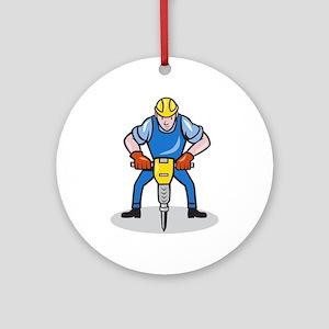 Construction Worker Jackhammer Pneumatic Drill Orn