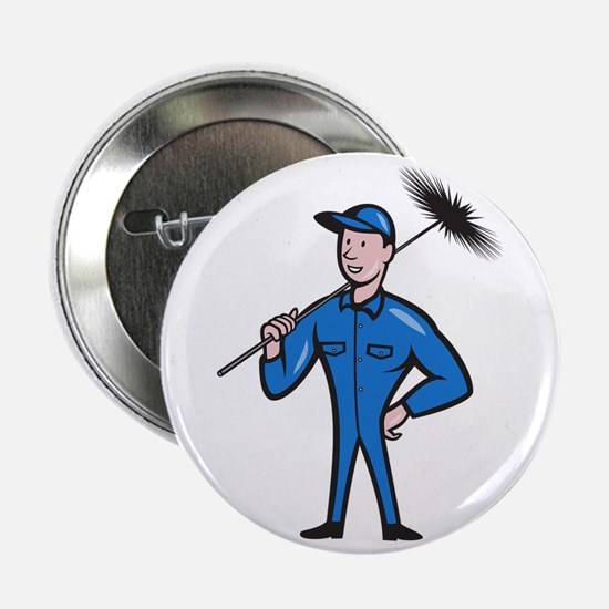 """Chimney Sweeper Cleaner Worker Retro 2.25"""" Button"""