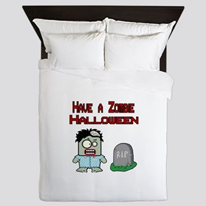 Have a Zombie Halloween Queen Duvet
