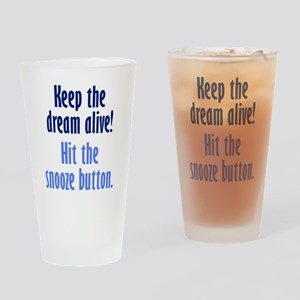 Snooze Button Drinking Glass