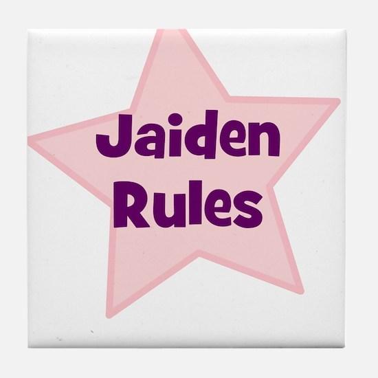 Jaiden Rules Tile Coaster