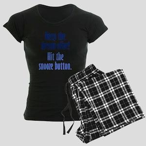 Snooze Button Women's Dark Pajamas
