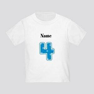 Personalized 4 Toddler T-Shirt