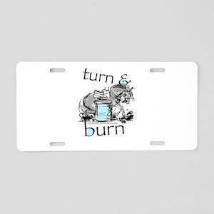 Turn and Burn Barrel Racing Aluminum License Plate