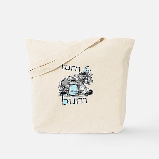 Turn and Burn Barrel Racing Tote Bag