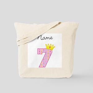 Personalized Princess 7 Tote Bag