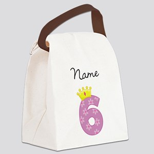 Personalized Princess 6 Canvas Lunch Bag