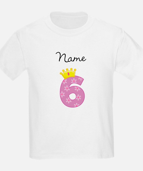 Personalized Princess 6 T-Shirt