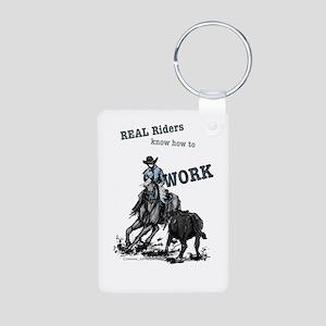 Real Western Cutting Horse Keychains