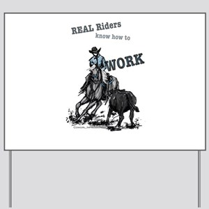 Real Western Cutting Horse Yard Sign