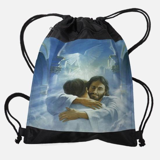 jesus 1 11.5X9.jpg Drawstring Bag