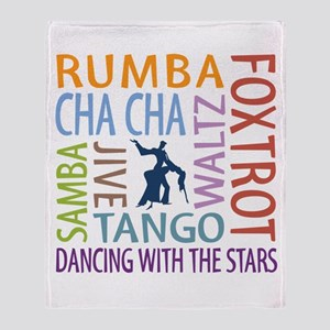 Ballroom Dancing DTWS Throw Blanket