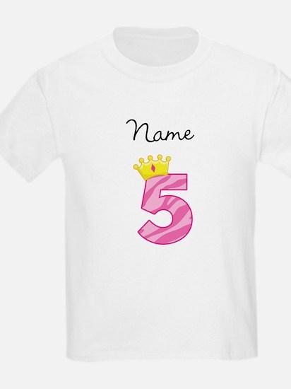 Personalized Princess 5 T-Shirt