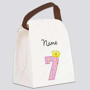 Personalized Princess 7 Canvas Lunch Bag