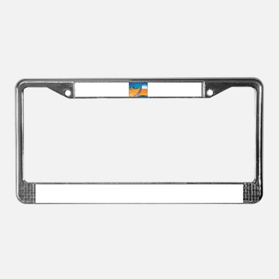 Wheat Fields in Kansas License Plate Frame