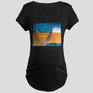 Wheat Fields in Kansas Maternity T-Shirt