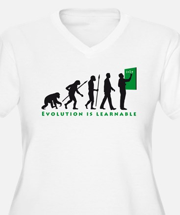 evolution of man teacher Plus Size T-Shirt