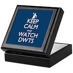 Keep Calm Watch DWTS Keepsake Box