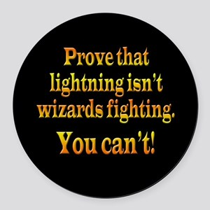 Wizards Fighting Round Car Magnet