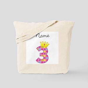 Personalized Princess 3 Tote Bag