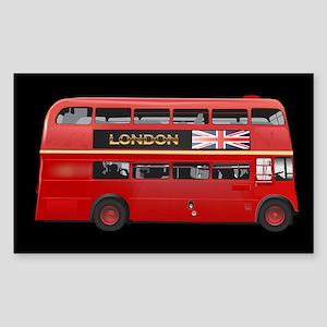 The London Bus Sticker (Rectangle)