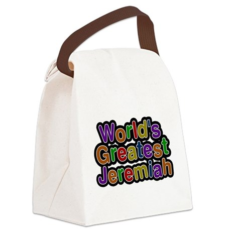 Worlds Greatest Jeremiah Canvas Lunch Bag