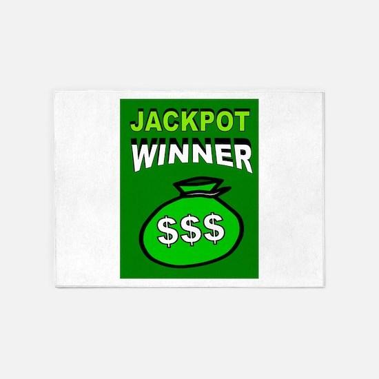 JACKPOT WINNER 5'x7'Area Rug