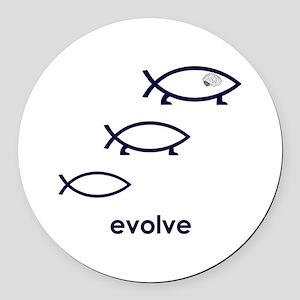 Evolve Round Car Magnet