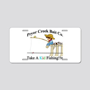 Pryor Creek Bait Company Aluminum License Plate