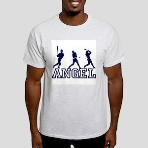 Baseball Angel Personalized Ash Grey T-Shirt