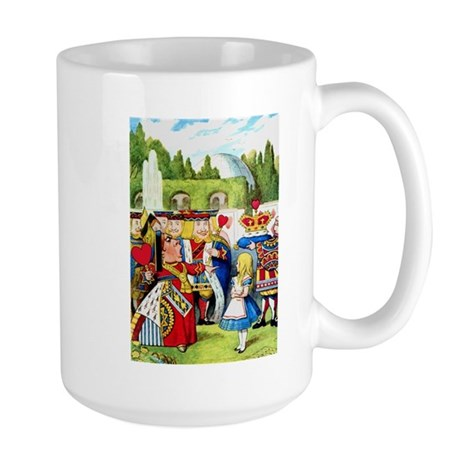 Alice and the Queen of Hearts Large Mug
