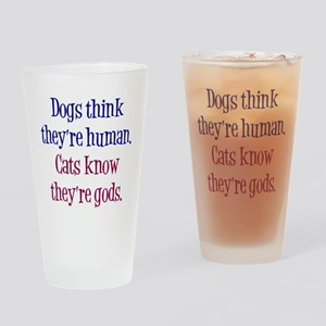Dogs and Cats Drinking Glass
