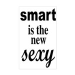 Smart Is The New Sexy Funny Geek Sticker (Rectangl