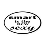 Smart Is The New Sexy Funny Geek Oval Car Magnet