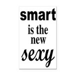 Smart Is The New Sexy Funny Geek Rectangle Car Mag