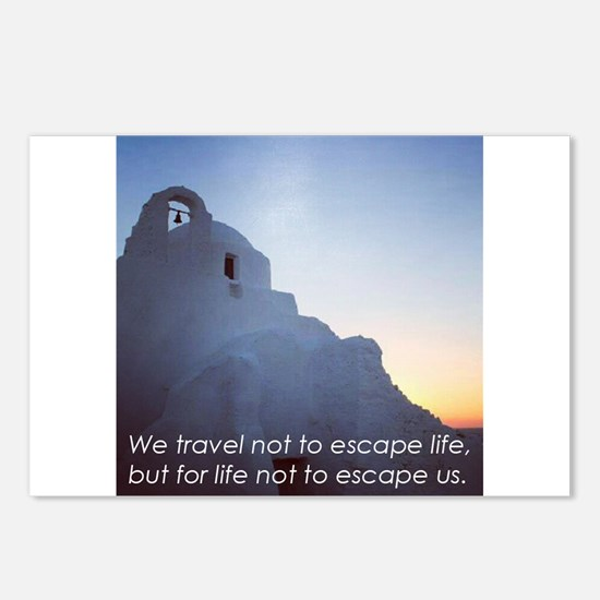 Inspiring Travel Quote T-Shirt (Greek Islands) Pos