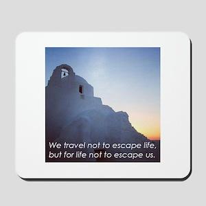Inspiring Travel Quote T-Shirt (Greek Islands) Mou