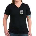 Berthomier Women's V-Neck Dark T-Shirt