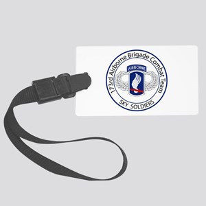 173rd Airborne Sky Soldiers Large Luggage Tag
