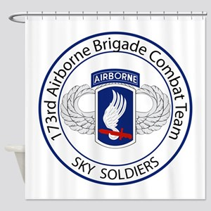 173rd Airborne Sky Soldiers Shower Curtain