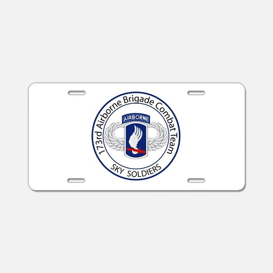 173rd Airborne Sky Soldiers Aluminum License Plate