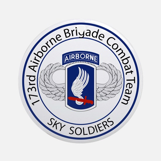 173rd Airborne Sky Soldiers Ornament (Round)