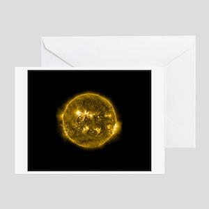 Moon Passes the Sun Greeting Card